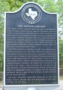 fort houston hist marker