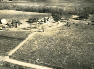 An aerial view of the Herff farm where Brodbeck flew (photo Cibolo Nature Center)